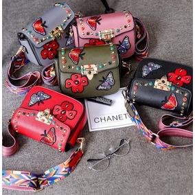 Bolsa Mariposa Diseño Divertido Piel Varios Colores
