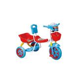 Triciclo Budada Con Canasto Y Tablero Musical Doble Asiento