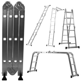 Escada Multifuncional 4x3 Em Alumínio 12 Degraus
