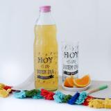 Botella Vidrio 1 Lt. Estampada Frases Agua Jugo