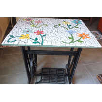 Mesa Rectangular Técnica En Mosaiquismo, Base 67*50