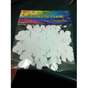 Figuras En Foami Copos De Nieve
