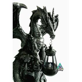 Espectacular Dragon Con Lámpara Solar - Envio Gratis