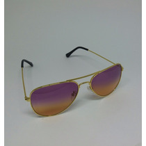 Óculos De Sol Aviador Feminino Degrade Lindo Oc18