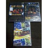 Kit 03 Dvds Moleca 100 Vergonha Ao Vivo Original