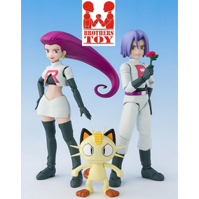 Equipe Rocket Jessie James Miau - Pokemon Sh Figuarts Bandai