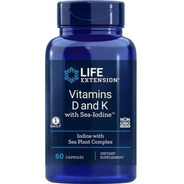 Vitamina D3 5.000 Ui + K2 Mk7 C/ Iodo Marinho Life Extension