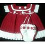Conjunto Vestido E Calcinha De Croche Feito A Mão Artesanal