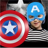 Escudo Luz- Sonido Capitan America Halloween Disfraz Niño