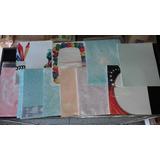 Hojas De Colores Estampadas Variedad Modelos
