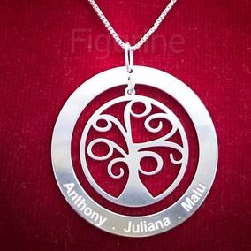 Colar Mandala Arvore Da Vida Nomes Personalizados Prata 925