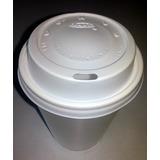 Vasos Térmicos Descartables 240 Cc Con Tapa Cappuccino X 100
