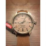 Reloj Timex Indiglo Malla Cuero Original Waterbury Nuevo