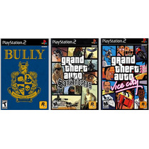 Patch Bully + Gta San Andreas +vice City Para Ps2 Leia