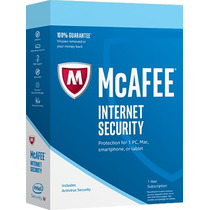 Antivirus Mcafee Internet Security 2017 Ilimitado Pc 1 Año