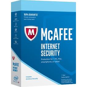 Antivirus Mcafee Internet Security 2017 Ilimitado Pc 1 Año