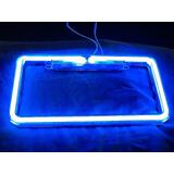 Porta Placas De Neon Azul A Partir De 4 Piezas