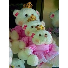 Kit Nicho Com 3 Ursinhas Princesas Palha