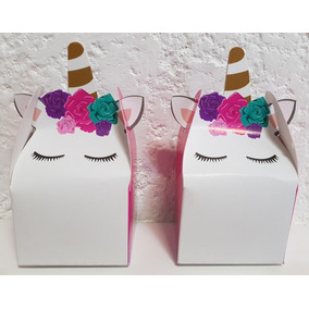 Unicornio Dulceros Fiestas Cajas 10 Pz Candy Bar Recuerdos