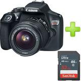 Camara Canon T6 + Lente 18 - 55 + Tarjeta Sd De 32 Gb