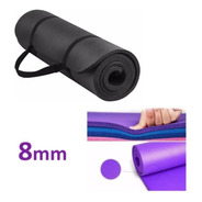 Mat Yoga Colchoneta Pilates Fitness Enrollable Gruesa 8mm