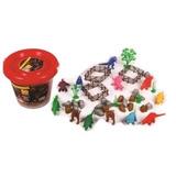Balde Con Figuras Dinosaurios 50 Piezas