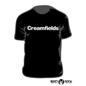 Remera Estampada Creamfields Vinilo Importado