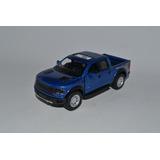 Miniatura Ford F-150 Svt Raptor 2013 1:46 Kinsmart Azul