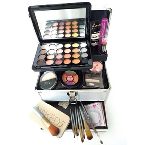 Maleta Maquiagem Profissional Com Make Kit Pincel Naked