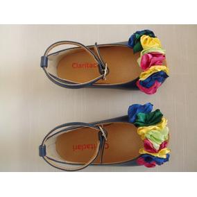 Sandalias Para Nenas Azules - Zapatos De Diseño - Unicos