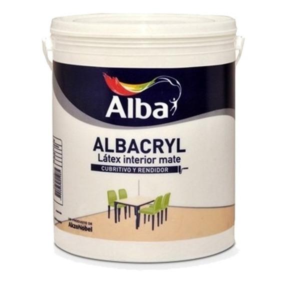 Albacryl Pintura Latex Interior Blanco Mate X 1 L Alba Mm