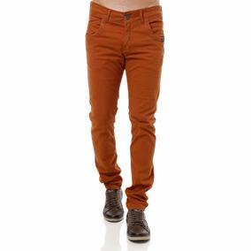 Calça Masculina Jeans Ou Sarja Slim Fit Com Elastano Skinny