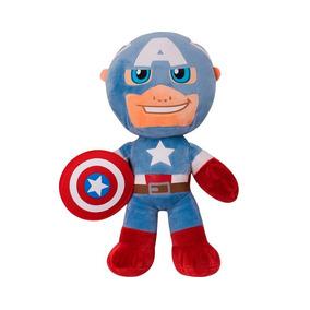 Boneco Pelucia Avengers Capitão América Buba Toys