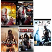 God Of War + Prince Of Pérsia + Assassins Creed Para Psp
