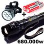 Lanterna Led T6 Tática Police Militar 680000w A Mais Potente