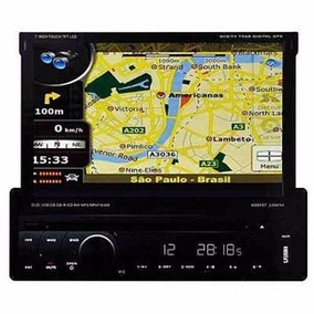Dvd Retrátil Napoli 7968 Gps Tv Digital Bluetooth Câmera Ré