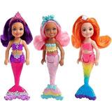 Muñeca Barbie Sirena Chelsea Original Mattel En Planeta!