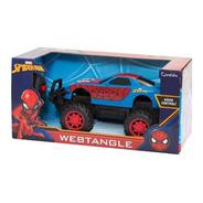 Carrinho De Controle Spider Homem Aranha Tangle Candide 5840