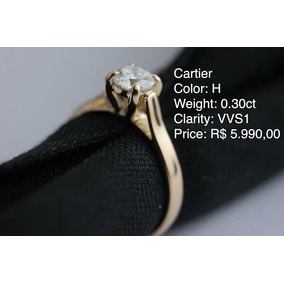 Anel Solit rio De Diamante Modelo Cartier Com Certificado! - Anéis ... 5cdf319814