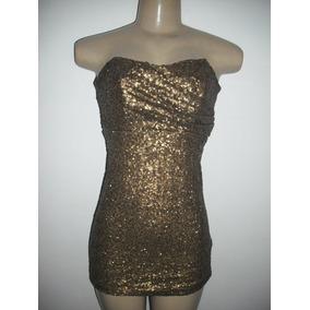 Vestido Paetes Dourado Tqc Festa Just Be P Usado Bom Estado