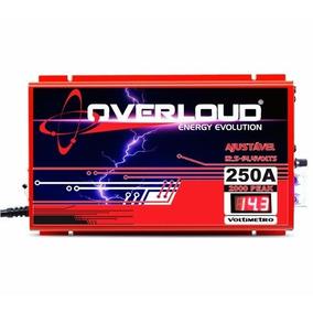 Fonte Automotiva Overloud 250a Bivolt Com Voltimetro
