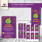 Kit Imprimible Angry Birds Cerdito Candy Bar - Deco Completo