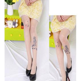 Meia Calça Feminina Com Tatuagem - Imporatada