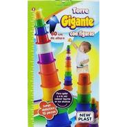 Torre Gigante Apilable Didactica 60 Cm Mi Cielo Azul