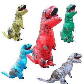 Disfraz T-rex Botarga De Dinosaruio Inflable Rojo
