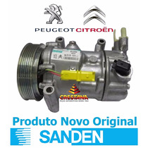 Compressor Do Ar Condicionado Citroen C4 Sd6c121351f Sanden