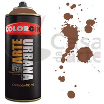 Tinta Spray Arte Urbana Colorgin 400ml Marrom Tabaco - 930