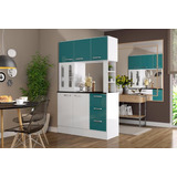 Mueble Cocina Americana Antonia Verde - Ikean