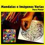 Kit De 20 Mandalas En Madera 20cm X 20cm Para Pintar. Relax