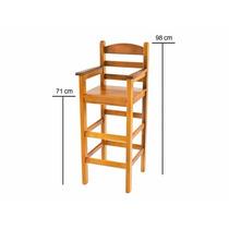 Cadeira De Bebê Criança Para Mesa Refeição Madeira Maciça
